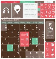 kalendar flat design3 vector image