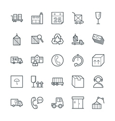Logistic Delivery Cool Icons 3 vector image