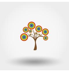 Magical rainbow tree vector