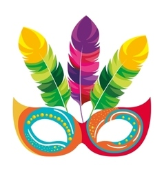 Mask carnival celebration icon vector