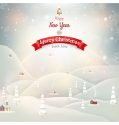 Merry Christmas Landscape EPS 10 vector image