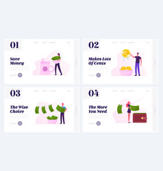 Money laundering website landing page set vector