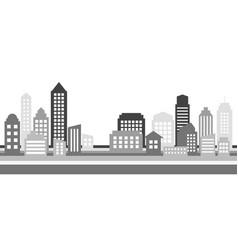 monochrome horizontal cityscape banner modern vector image