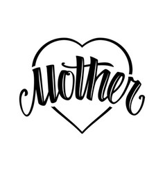 Mother tattoo style lettering vector