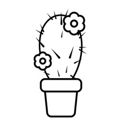 Needle cactus icon outline line style vector