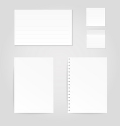 paper sheets mock ups vector image
