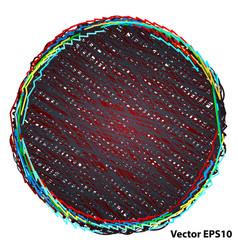 pencil drawn circle vector image
