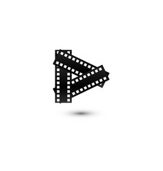 play button multimedia logo graphic template vector image