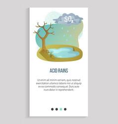Pollution in atmosphere acid rain recycle app vector
