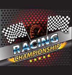Racing championship design vector