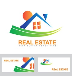 Real estate house abstract logo vector