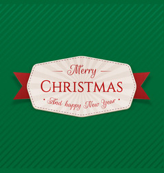Realistic festive merry christmas label vector