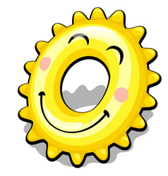 rubber ring for swimming in shape a sun vector image