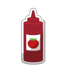 Sauce bottle icon vector