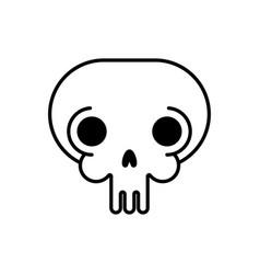 skull linear style head skeleton vector image