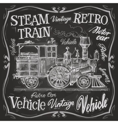 steam train logo design template vector image