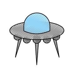Ufo flying saucer technology science transport vector
