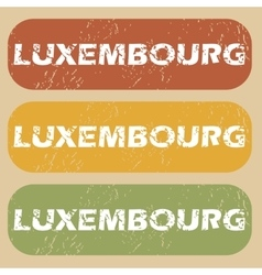 Vintage Luxembourg stamp set vector