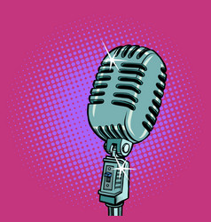 vintage retro microphone music standup concert vector image