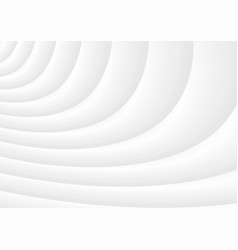 Wavy 3d white background of abstract waves vector