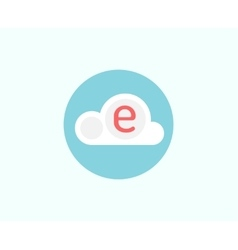 Web cloud business icon Web storage creative vector image