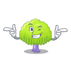 Wink drawing of willow tree shape cartoon vector