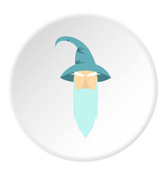 Wizard icon circle vector