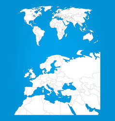 world map infographic template with europe area vector image