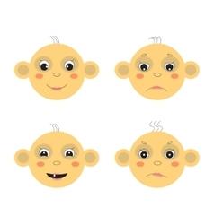 Baby face vector