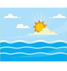 bg sea vector image vector image
