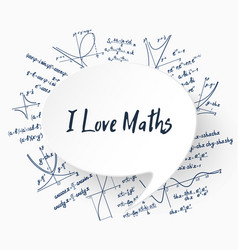 i love maths background vector image