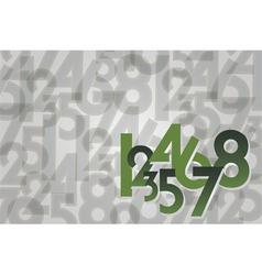 numbers random background vector image