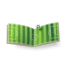 Open soccer field vector