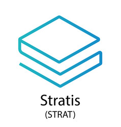 Stratis cryptocurrency symbol vector