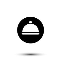 white cloche icon vector image vector image
