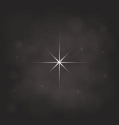 abstract star magic light sky bubble blur dark vector image