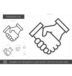 Handshake line icon vector image vector image