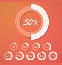 Set of Infographic Diagram Percent Circles vector image