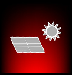 solar energy panel eco trend concept sign vector image vector image