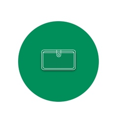 Line icon of purse Purse on the white background vector image vector image