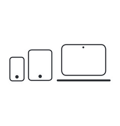 modern electronic devices line style vector image