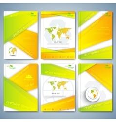 Modern set of brochures flyer booklet cover or vector