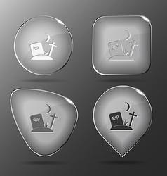 Rip glass buttons vector