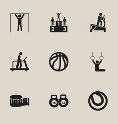 set of 9 editable healthy icons includes symbols vector image vector image