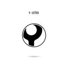 Y-letter abstract logo vector image