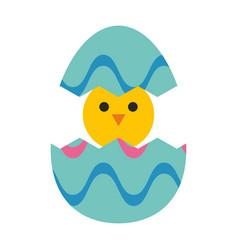 little chicken in egg vector image vector image