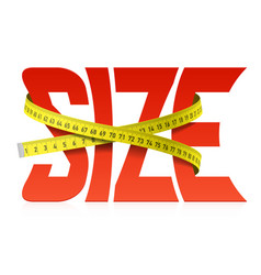 squeezed by tape measure word size vector image