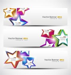 Stars banner set vector