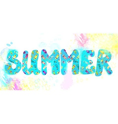 Summer banner - funny watercolor vector image vector image