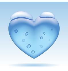 Three dimensional ice heart vector image vector image